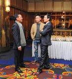 出席年底党的商人 图库摄影