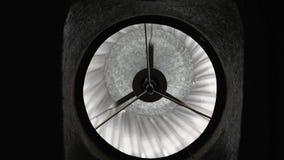 出气孔敞篷的图象底视图在被转动的屋顶的 股票录像