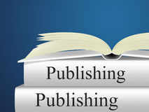 出版展示课本E出版和出版者的书 免版税库存图片
