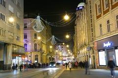 出现在克罗地亚的首都 库存照片