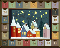 出现日历动画片圣诞节要素图标计时多种 库存照片