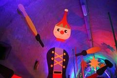 出现萨格勒布,玩具世界在隧道Gric, 10的 库存图片