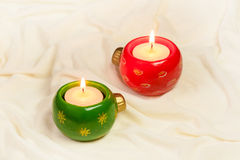 出现蜡烛和圣诞节 免版税库存照片