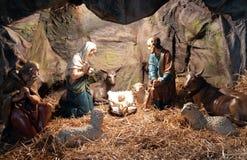 出生她的耶稣judea爱玛丽亚母亲的betlehem诞生是 库存照片