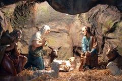 出生她的耶稣judea爱玛丽亚母亲的betlehem诞生是 免版税库存照片