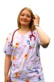 出生护士 库存照片