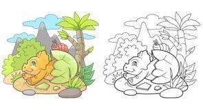 出生的逗人喜爱的三角恐龙 免版税图库摄影