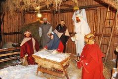 出生耶稣 库存照片