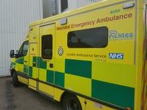 出生紧急伦敦救护车 免版税库存照片