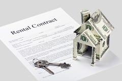 出租合同协议书表单 免版税库存照片