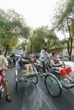 出租机动三轮车在越南 免版税库存照片