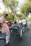 出租机动三轮车在越南 库存图片