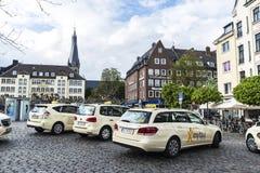 出租汽车中止在杜塞尔多夫,德国 库存图片