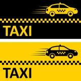 出租汽车卡片 库存照片