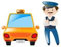 出租汽车司机支持出租汽车 皇族释放例证
