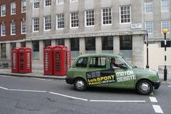 出租汽车在伦敦2 免版税库存图片