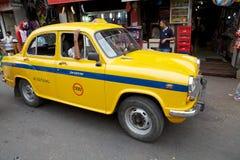 出租汽车在加尔各答,印度 免版税图库摄影