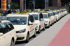 出租汽车在德国 图库摄影