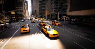 出租汽车在纽约 图库摄影