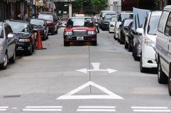 出租汽车在香港。 免版税图库摄影