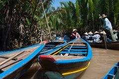 出租汽车小船在越南 库存照片