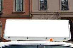 出租汽车广告 免版税库存图片