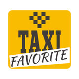 出租汽车徽章传染媒介例证 免版税库存图片