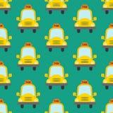 出租汽车无缝的样式 免版税库存照片