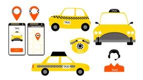 出租汽车服务签到传染媒介 皇族释放例证