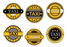 出租汽车服务象征和标志 免版税库存照片