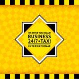 出租汽车标志有方格的背景- 25 免版税库存图片