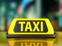 出租汽车标志背景 免版税库存图片