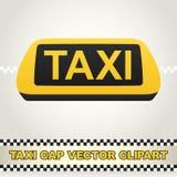 出租汽车盖帽传染媒介Clipart 免版税库存照片