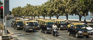 出租汽车,孟买,印度 免版税库存图片