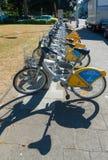 出租自行车在布鲁塞尔 库存图片