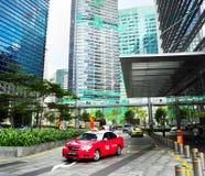 出租车在新加坡 免版税库存图片