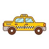 出租车 向量例证