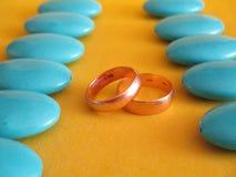 出自真正爱情的婚姻 库存照片