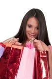 出色的女孩购物年轻人 免版税图库摄影