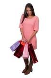 出色的女孩购物年轻人 图库摄影