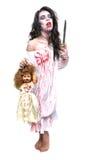 出血精神病患者妇女的图象 免版税库存图片