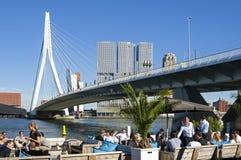 出去到鹿特丹在河Nieuwe马斯 库存照片