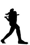 击球手本垒打 免版税库存照片