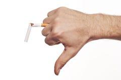 击碎现有量人s的香烟 免版税图库摄影