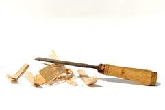 凿子木材加工 免版税图库摄影