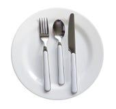 刀叉餐具吃饭的客人集 库存图片