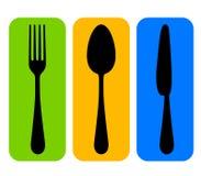 刀叉餐具图标 库存例证