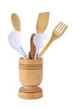 刀叉餐具木材 免版税图库摄影