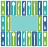 刀叉餐具框架 向量例证