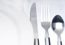 刀叉餐具集合表 库存图片